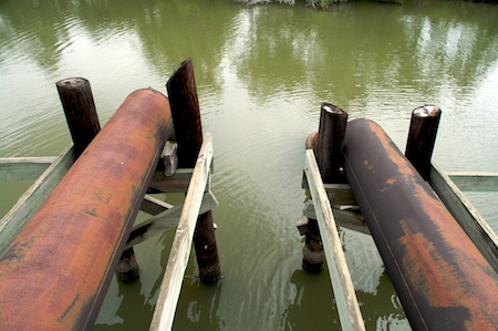 Pumps in The Nueces River